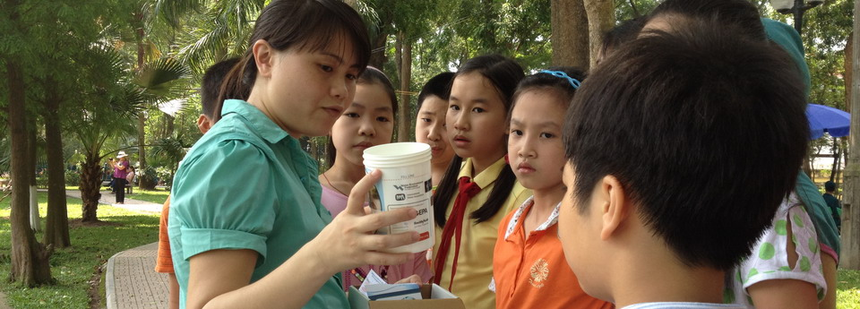 Testing water quality in the Hanoi Botanical Gardens for the World Water Monitoring Challenge